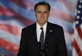 Romney on Election Night, realizing he had blown an historic opportunity.
