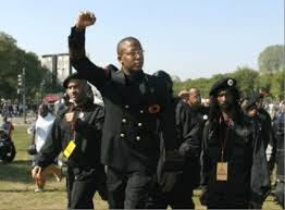 "Malik Zulu Shabazz of the New Black Panthers brings ""healing"" - his way - to Ferguson. And yesterday again in Charleston..."