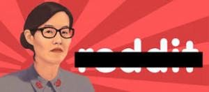 Reddit liberals making fun of their liberal leader, Ellen Pao, by dubbing her a communist name. Hmmm